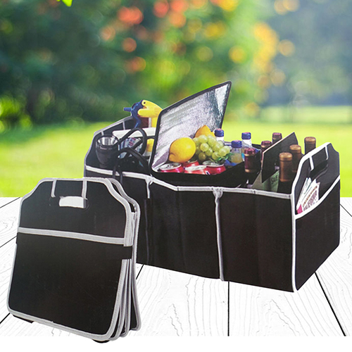 Automotive Collapsible Folding Flat Trunk Organizer for Picnic Travel Car SUV 5pcs collapsible non woven fabrics material folding flat storage organizer for car