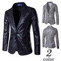 2016 Моды для Мужчин Пиджак Leopard Slim Fit Костюм Blaser Masculino Случайные Мужские Костюмы Пиджак Мужчины Одной Кнопки Костюм Homme