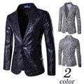 2016 Hombres de La Moda Blazer Leopard Slim Fit Traje Blaser Masculino Casual Masculina Trajes Chaqueta Chaqueta de Los Hombres de Un Solo Botón Traje Homme