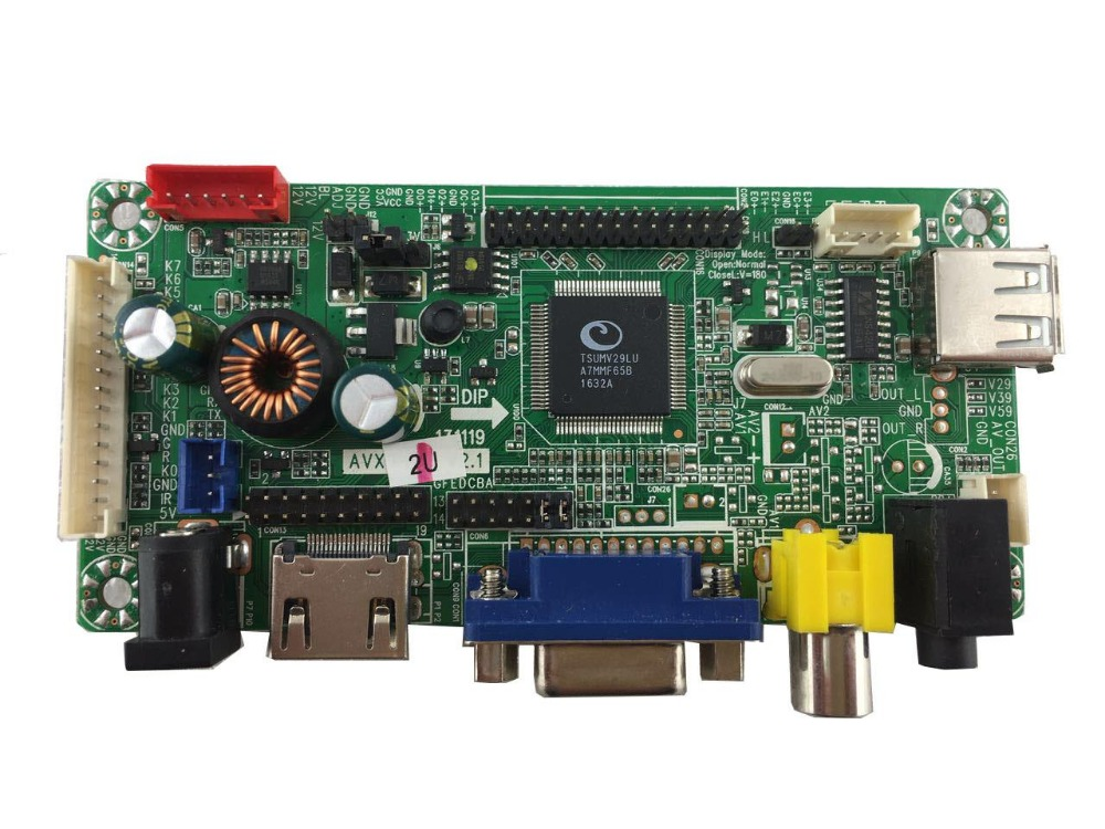 HDMI VGA AV Audio LCD controller board have pre load 23 types of firmware with different