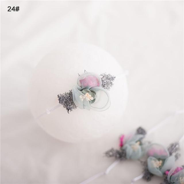 Headband Bunga Busur Elastis  4