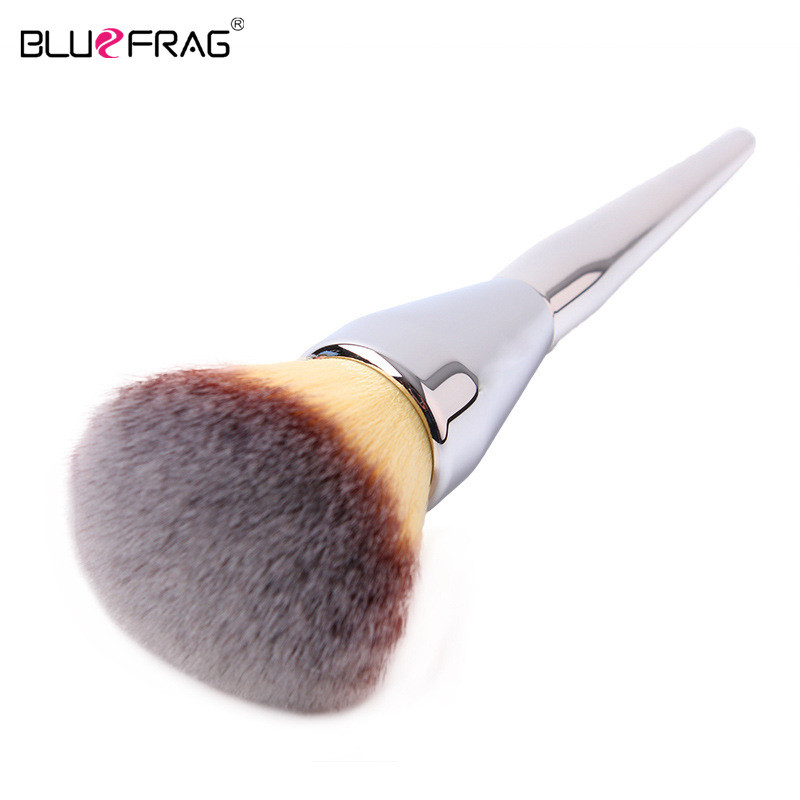 BLUEFRAG Soft Very Big Beauty Powder Brush Makeup Brushes Blush Foundation Round Face Make Up Large Cosmetics Aluminum Brushes bluefrag highlighter makeup brush flawless face brush multipurpose powder foundation blush blbr0132