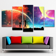 Canvas Painting Wall Poster Modular Pictures 5 Panel The Cosmos Abstract Art