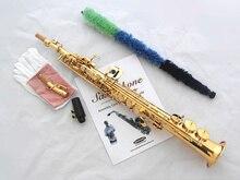 Новая модель высокого качества Саксофон сопрано Bb золотой сопрано saxofone музыкальных инструментов профессиональный саксофон №