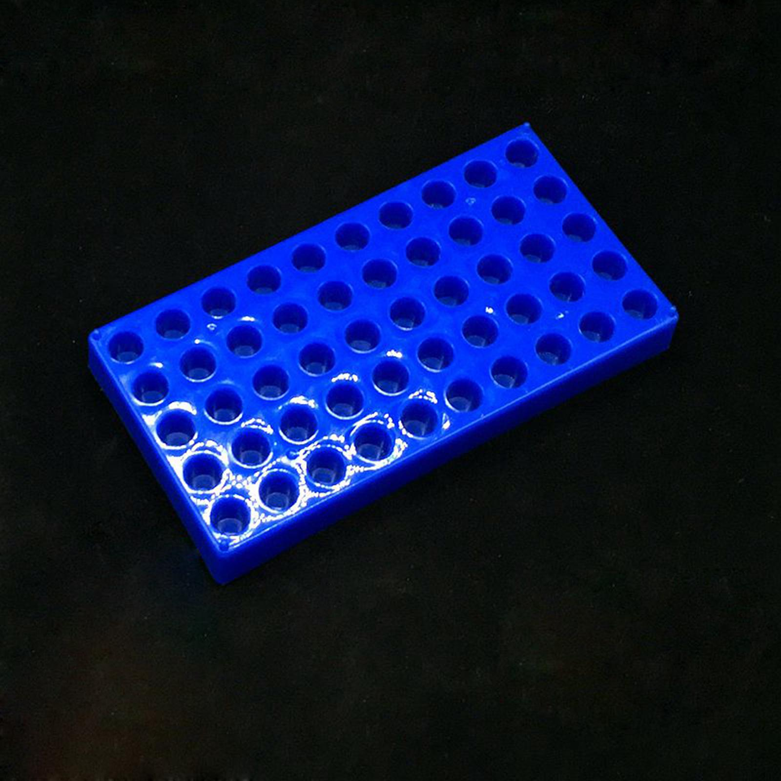 A cremalheira 50 do tubo de ensaio de plastc detém a cremalheira do tubo do centrifugador do diâmetro 12mm 1.5/2ml dos frascos