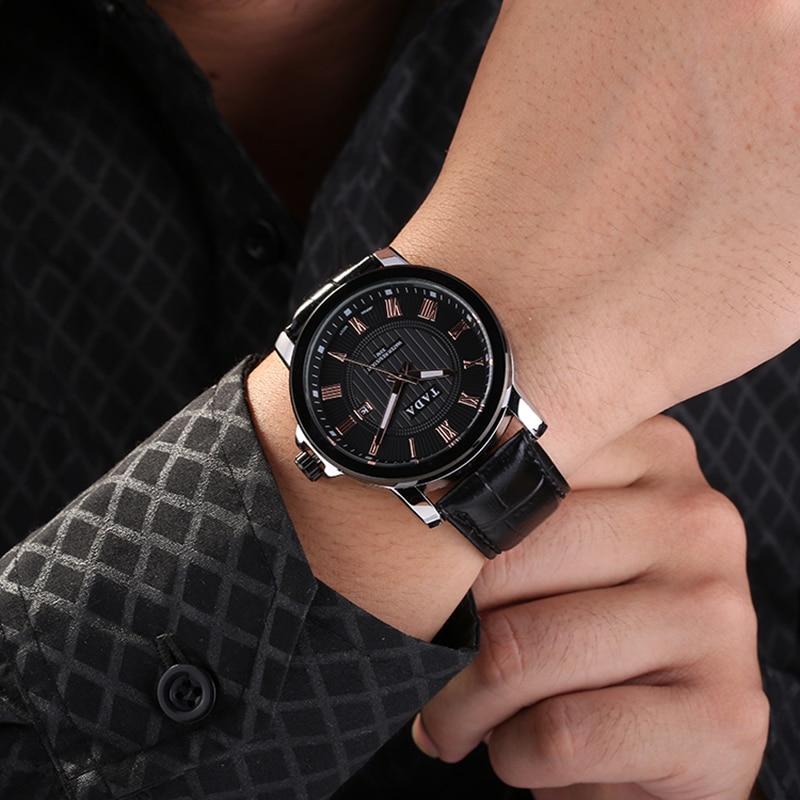 Japan Movement 3ATM Wateproof Top Luxe Merk TADA Horloges Heren Hot - Herenhorloges - Foto 6