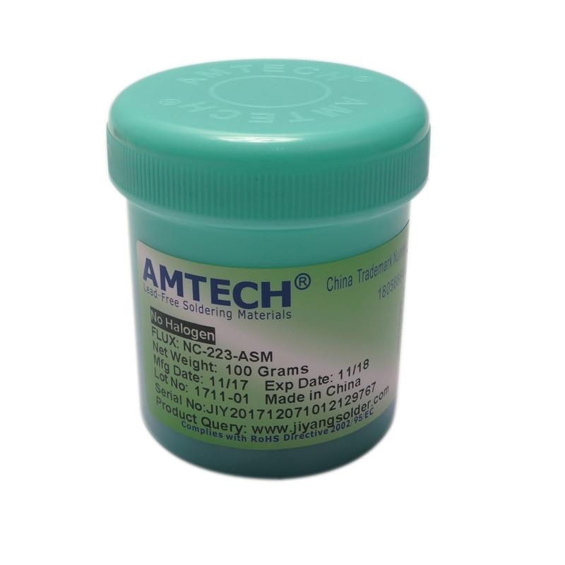 100% Original AMTECH RMA-223-UV 100g SMT / SMD BGA Soldering Solder Flux Paste For PCB Rework Reballing Welding Repair Tools original kingbo rma 218 bga solder flux paste solder 100g for bga rework station use
