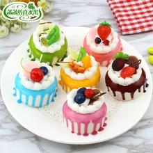 Artificial cream fruit cake food fake dessert bread model of wedding accessories