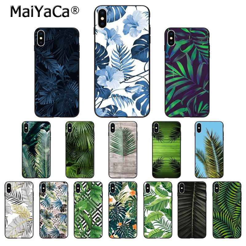 MaiYaCa Palm tree Leaves Customer High Quality Phone Case for iPhone X XS MAX  6 6s 7 7plus 8 8Plus 5 5S SE XR