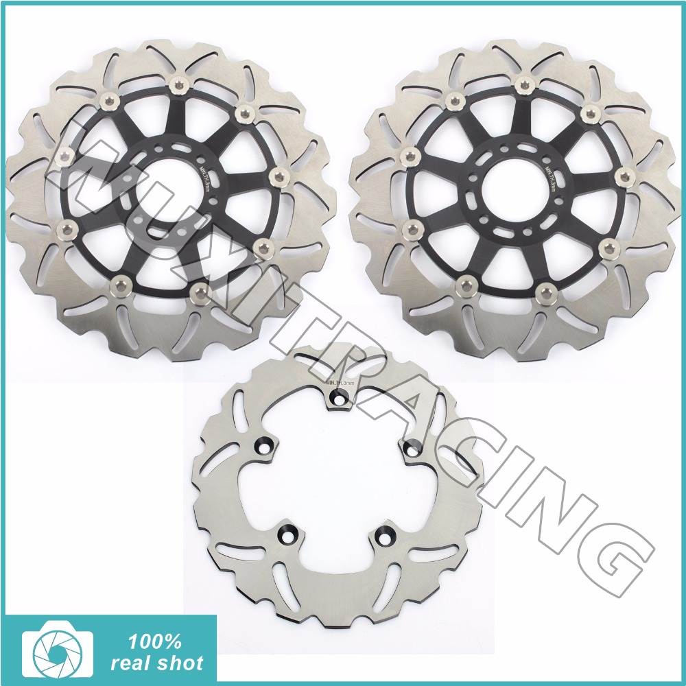 New Full Set Front Rear Brake Discs Disks Rotors for Aprilia RS 250 Replica 95 96 97 98 99 00 01 02 03 298mm 220mm 94 95 96 97 98 99 00 01 02 03 04 05 06 new 300mm front 280mm rear brake discs disks rotor fit for kawasaki gtr 1000 zg1000