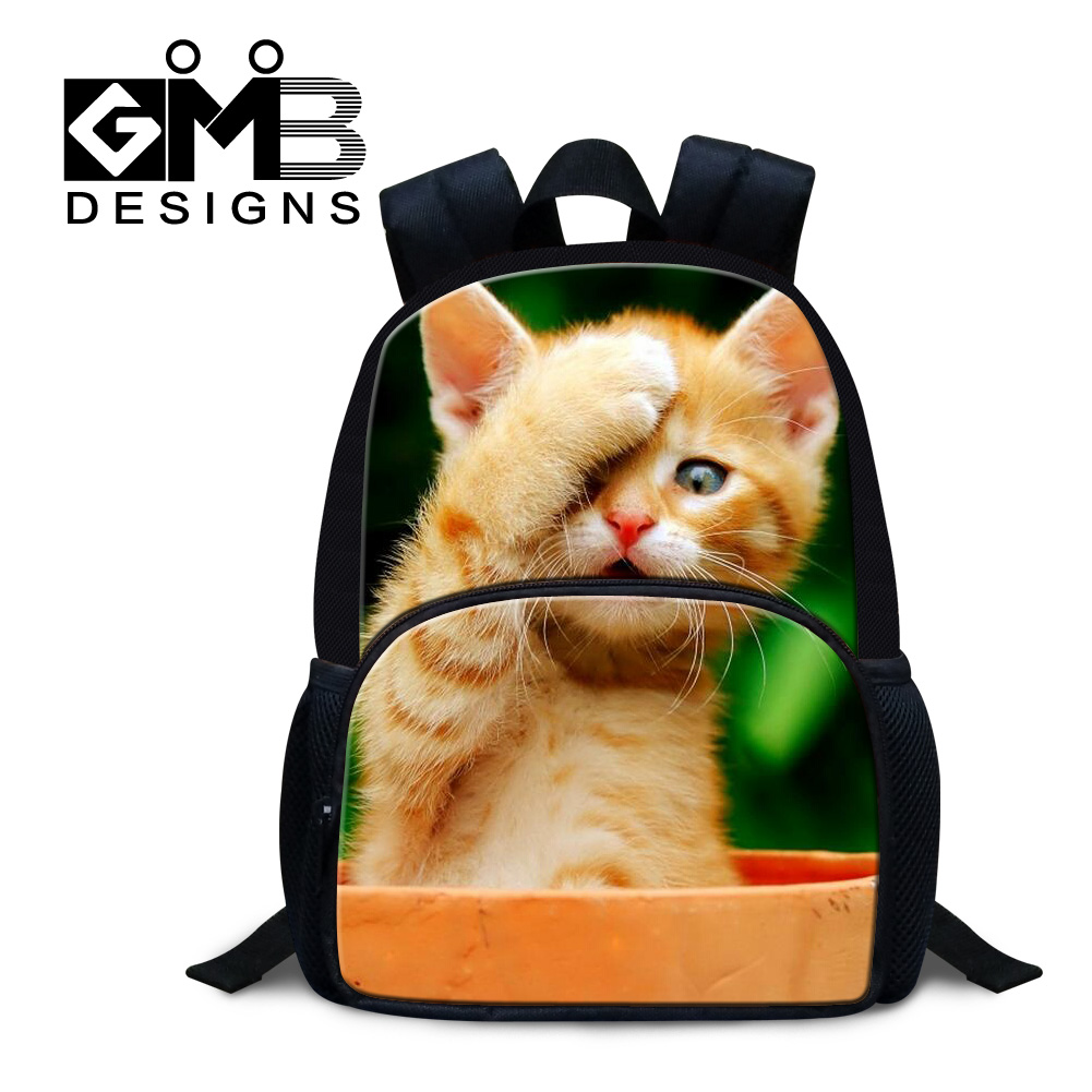 Dispalang Kawaii Cat Printing School Back Pack For Kindergarten 12 Inch Small Felt Backpacks For Kids Children Rucksack Mochilas