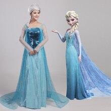 Cosplay Princesa Elsa Snow Queen Elsa Traje de Mascarada Adultos Fancy Dres Carnaval disfraces de Halloween