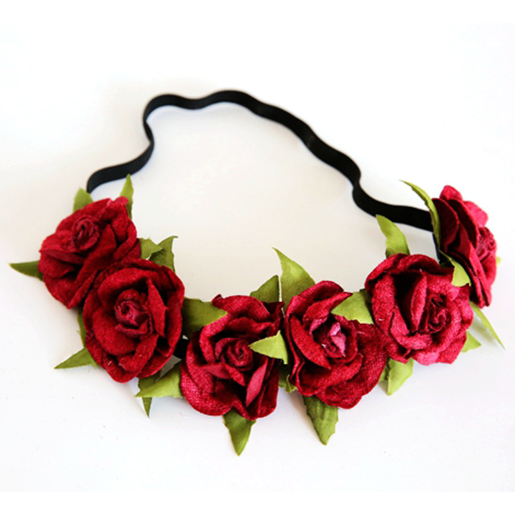 Online shop efinny beauty rose flower crown headband wedding elastic online shop efinny beauty rose flower crown headband wedding elastic red floral garland hairband aliexpress mobile izmirmasajfo Images