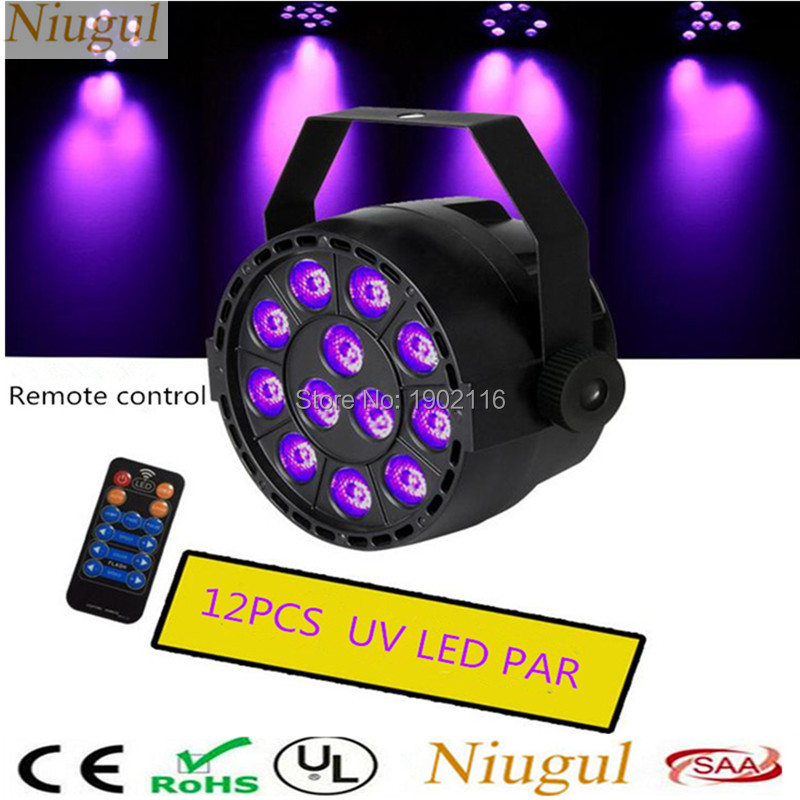 Remote control 36W UV Led Stage Light LED Par Light Ultraviolet Led Spotlight With DMX512 for Disco DJ Club Show home Party Lamp 36w uv led stage light black light par light ultraviolet led spotligh lamp with dmx512 for disco dj club show party decoration