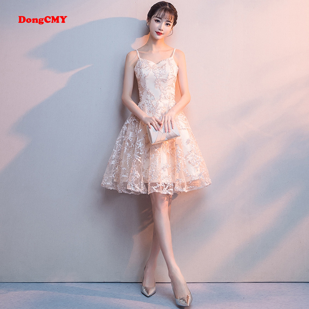 DongCMY 2019 Prom New A-line Short Student Young Short Sexy Party Pretty Graduation Dresses