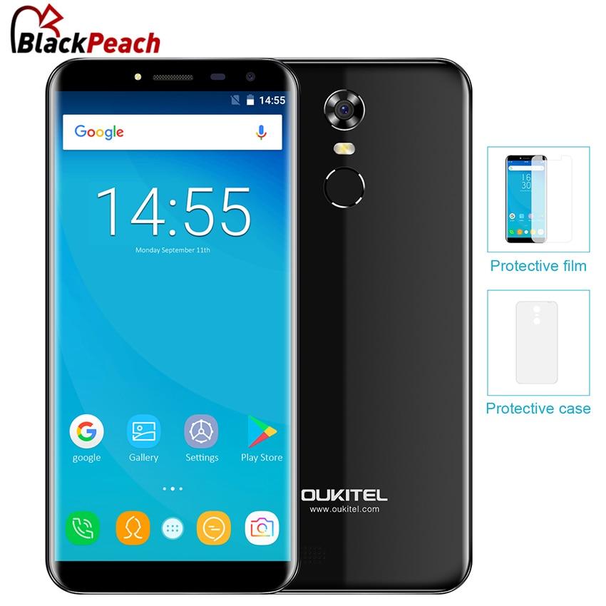 Oukitel C8 3G 5.5 Inch 18:9 Edge-Less Smartphone Android 7.0 2GB RAM 16GB MT6580 Quad Core 3000mAh 13MP Fingerprint ID Cellphone