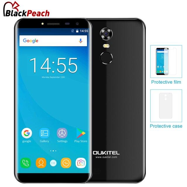 Oukitel C8 5.5 дюймов 18:9 край-менее Смартфон Android 7.0 2 ГБ Оперативная память 16 ГБ MT6580 4 ядра 3000 мАч 13MP отпечатков пальцев ID 3 г телефона