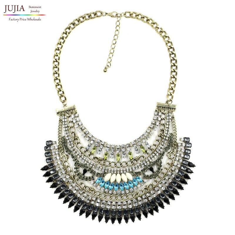 2017 NUEVA moda collar de los Collares y Colgantes de cadena de moda chunky  gargantilla bib declaración colgante f7dee84ba72