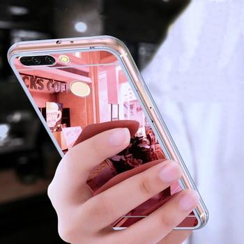 De Lujo espejo TPU caja del teléfono caso de la contraportada para Huawei Y9 2019 Y7 Y6 Pro primer 2018 de 2017 Y5 Y3 Y5-2 Y3-2 Y6-2 II