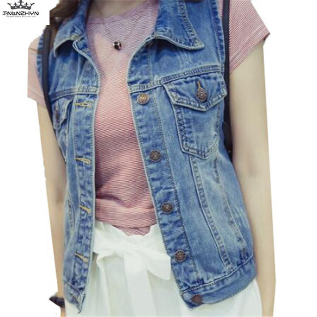 ab4753623eb1 2019 New Spring Women Large Size Vest Fashion Short Denim Vest Vintage  Sleeveless Jacket Slim Denim Waistcoat Coat TNLNZHYN E488
