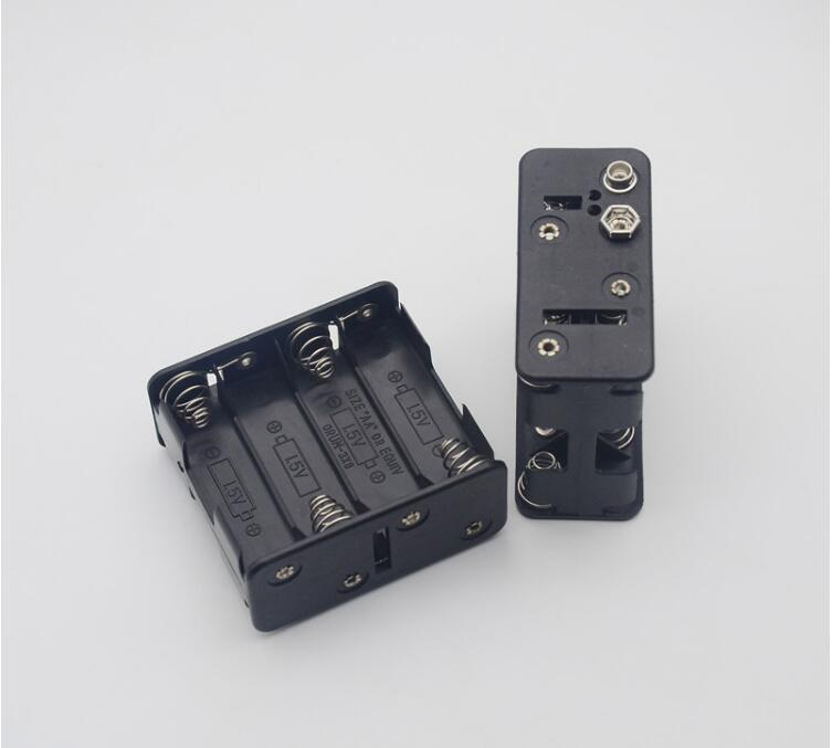 600pcs/lot MasterFire 8*AA 12V Plastic Battery Clip Slot Storage Holder Box Case Back to 8 AA Batteries Slots Cover