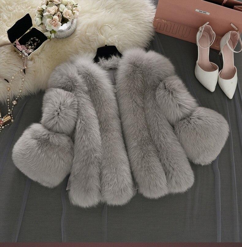 Uwback Faux Fur Gilet colete pel 2018 New Winter Pink Faux Fur Coat Waistcoat Plus Size 4XL Furry Thick Faux Fur Jacket TB1283