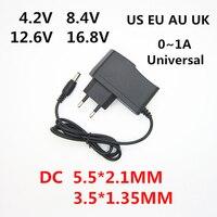 AC 100-240 V DC 4.2 V 8.4 V 12.6 V 16.8 V 1A voor 18650 lithium batterij oplader power Adapter 4.2 V 8.4 V 12.6 V 16.8 V 1000MA charger