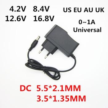 AC 100-240V DC 4.2 V 8.4 V 12.6 V 16.8 V 1A voor 18650 lithium batterij oplader power Adapter 4.2 V 8.4 V 12.6 V 16.8 V 1000MA charger
