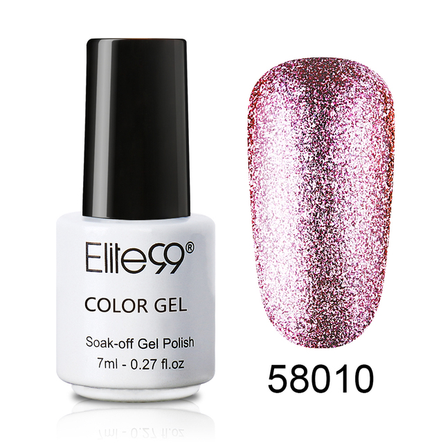 Elite99 7 ml Super Bling Glitter Platin Gel Nagellack Semi Permanent UV Gel Nagellack Lack Gel-Lack