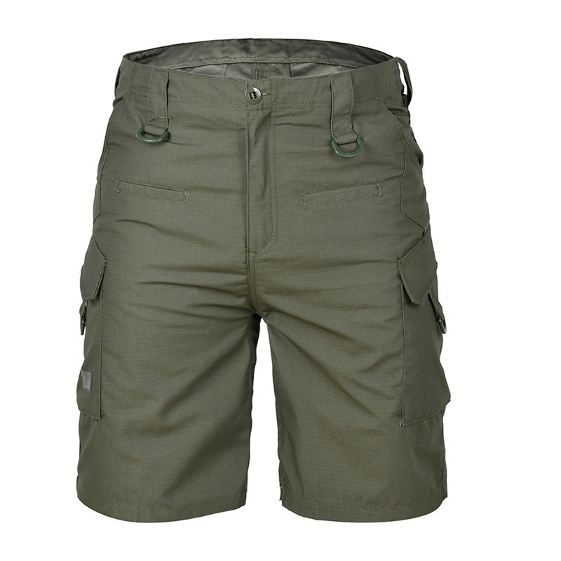 Men Tourism Hiking Shorts Quick Dry Large Multi Pocket Loose Outdoor Climbing Training Tactical Camouflage Cargo Short Trousers