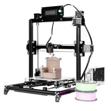 3d Printer Single Extruder Kits Auto-leveling Aluminum Frame Heated Bed Two Rolls Filament EU/UK Plug