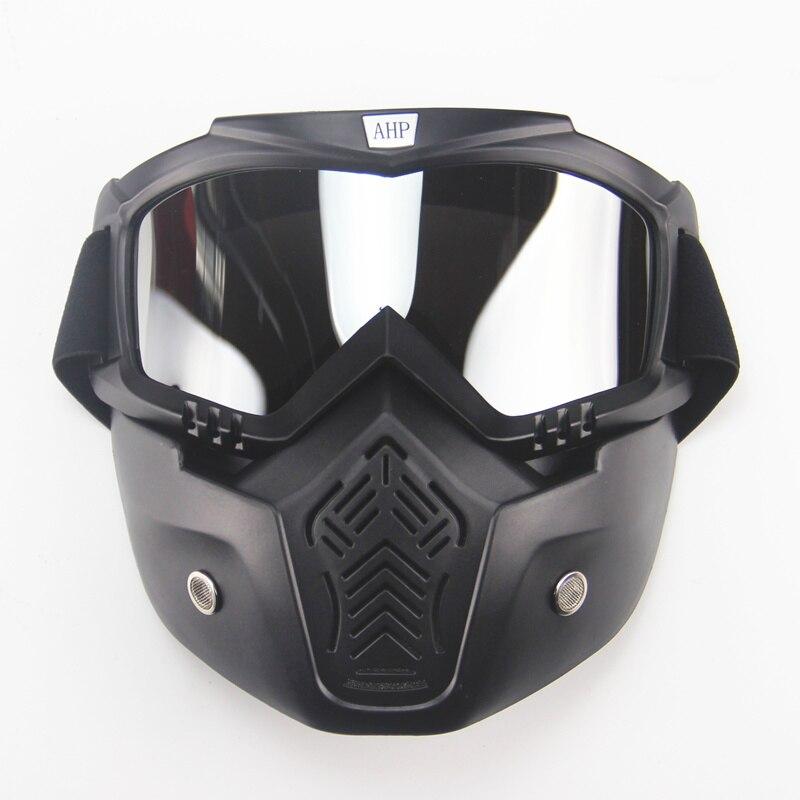 motorcykel ansiktsmask dammmask med avtagbar skyddsglasögon och - Motorcykel tillbehör och delar - Foto 4