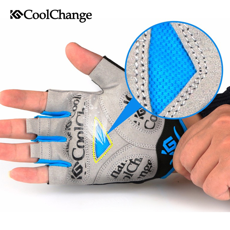 Bike Shockproof Half Finger Gloves Men Women-9039