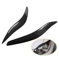 Carbon Fiber Front Cover Eyelid Eyebrow Car Styling Headlamp Eyebrows Trim Cover for Lexus IS250 IS300 2006 2012