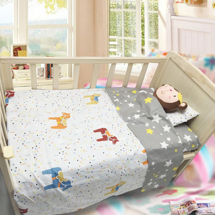 ФОТО 2017 Time-limited De Cama 3pcs/set 100%cotton Crib Bed Baby Bedding Set Include Pillow Case+bed Sheet+duvet Cover No Filling