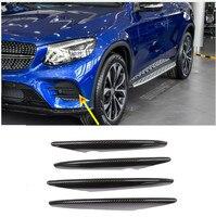 Carbon Fiber For Mercedes Benz GLC Class X253 2017 2018 Car ABS Chrome Air intake grille Strips Trim Accessories 4Pcs