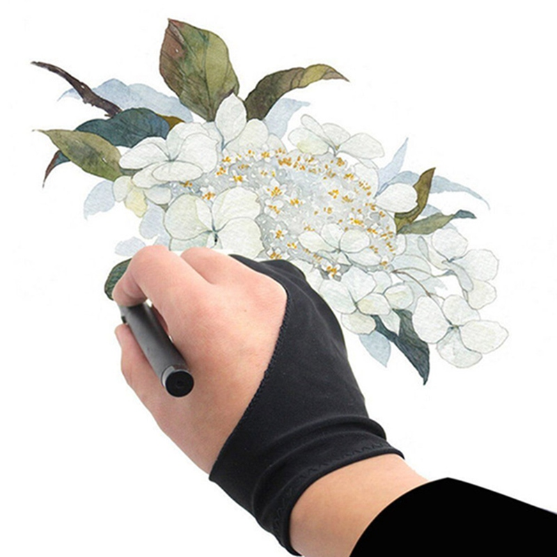 1PC Anti-fouling Drawing Glove 2 Finger Painting Artist Glove Digital Tablet Glove Both for Right and Left Hand