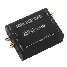 ZHILAI H5 HI-FI USB a S/PDIF Convertidor DAC PCM2704 USB color negro