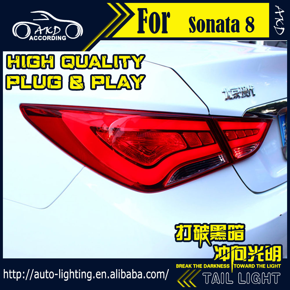 AKD Car Styling Tail Lamp for Hyundai Sonata Tail Lights LED Tail Light LED Signal LED DRL Stop Rear Lamp Accessories free shipping 2pc lot car led lamp canbus rear turn signal light bulb for 2016 hyundai sonata