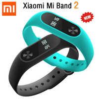 Bracelet Original Xiao mi bande 2 mi bande mi Band2 Bracelet OLED écran tactile fréquence cardiaque Tracker de Fitness IP67 étanche