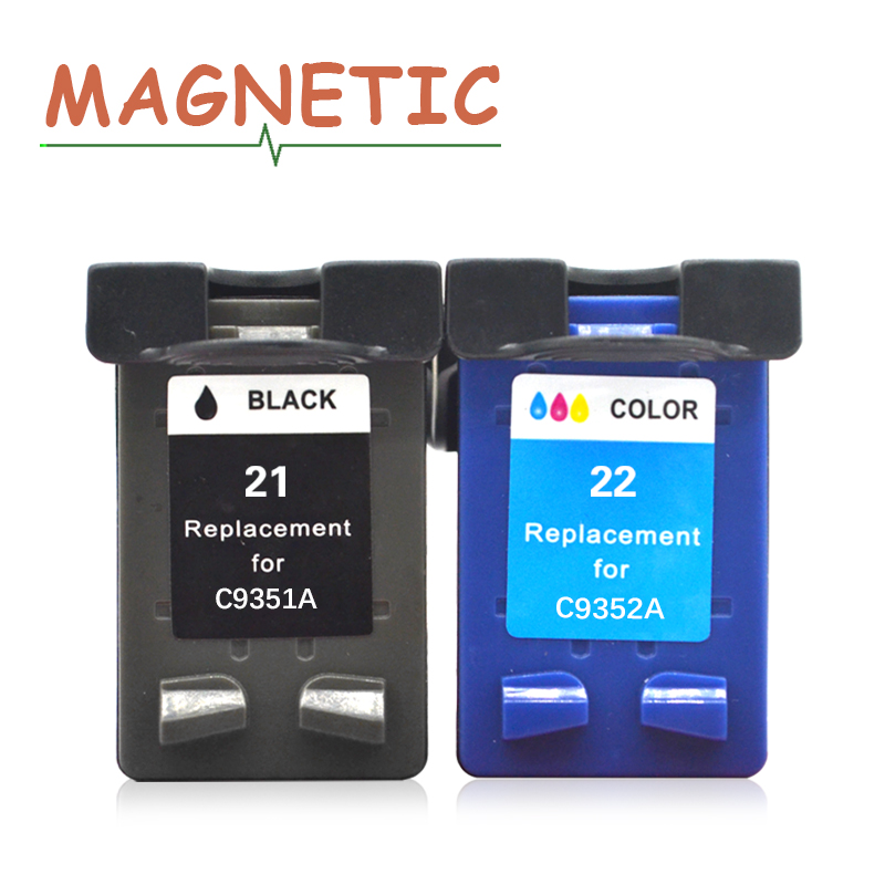 Magnetic Compatible Ink <font><b>Cartridge</b></font> For <font><b>HP</b></font> <font><b>21</b></font> <font><b>22</b></font> XL DeskJet 3910 3915 3918 3920 3930 3938 3940 D1500 D2300 F2100 F2280 F4100 F4180 image