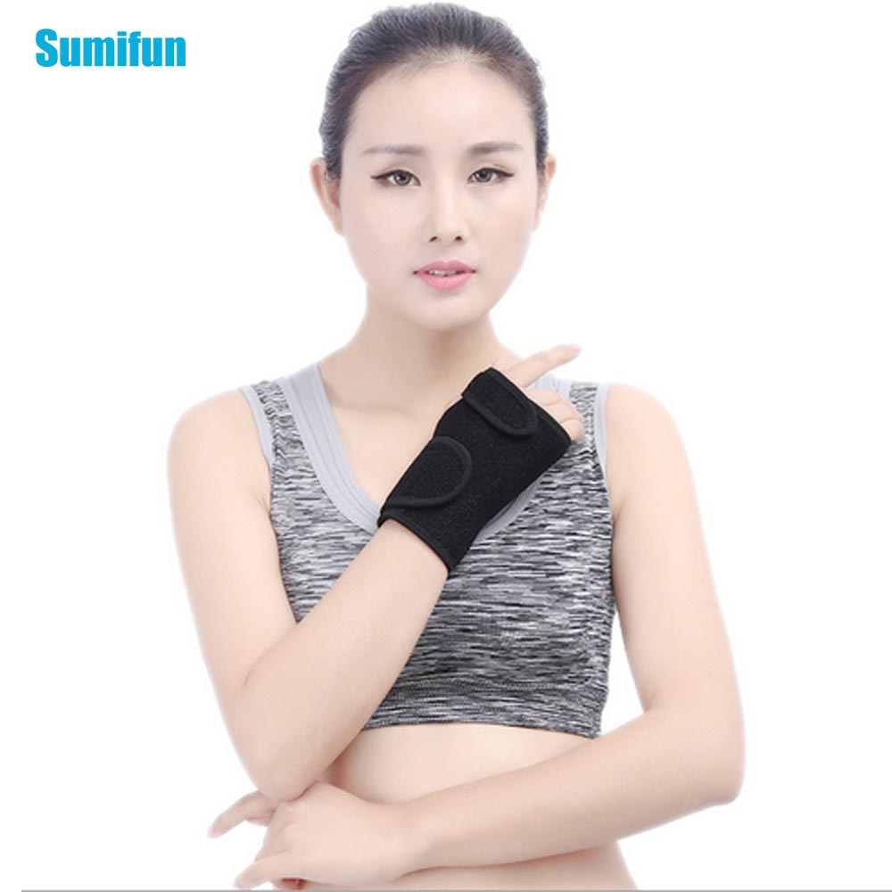 Adjust Bracelet Steel Joints Wrists Support Tire Fractures Carpal Tunnel Sports Anti-stretching Hand Bracelets Z781