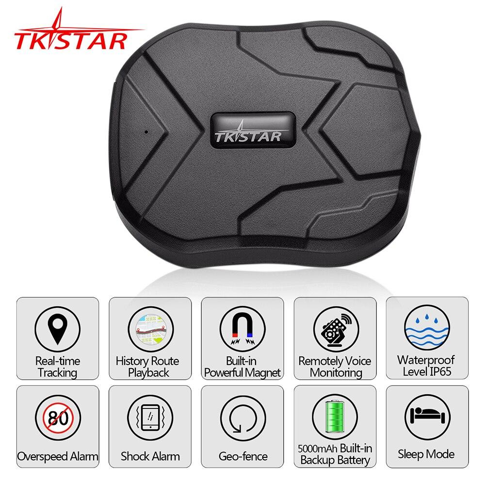 GPS rastreador coche TKSTAR TK905 5000 mAh 90 días en espera 2G rastreador de vehículos GPS localizador magnético impermeable Monitor de voz web APP