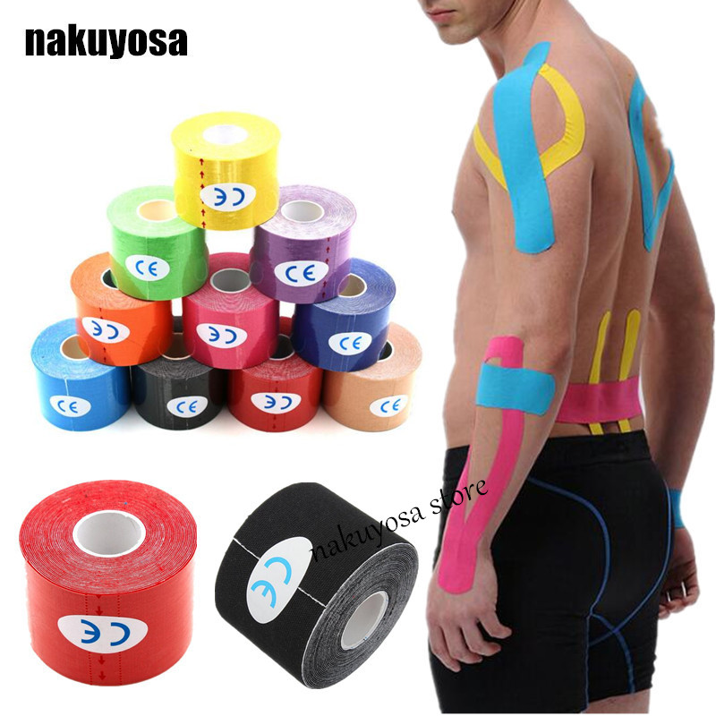 200rolls 5cmx5m Cotton fabric tape kinesiology tape kinesiology tex tape Muscle pain care Therapeutic sport tape