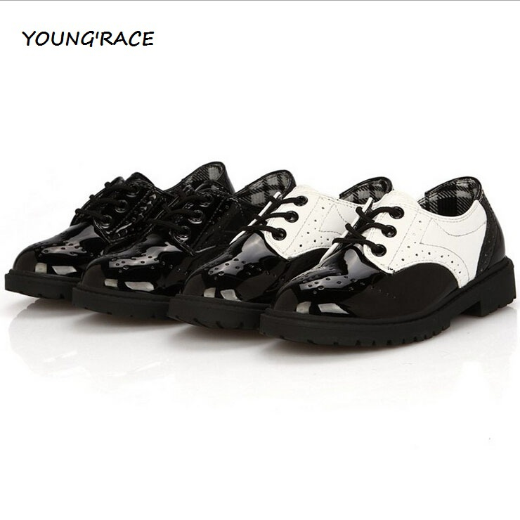 2016 Brand New Boys Formal Leather Shoes for Weddings England Style Kids  Leather Dress Shoes Boys Brogue Wedding Shoes 642b585ae1e7