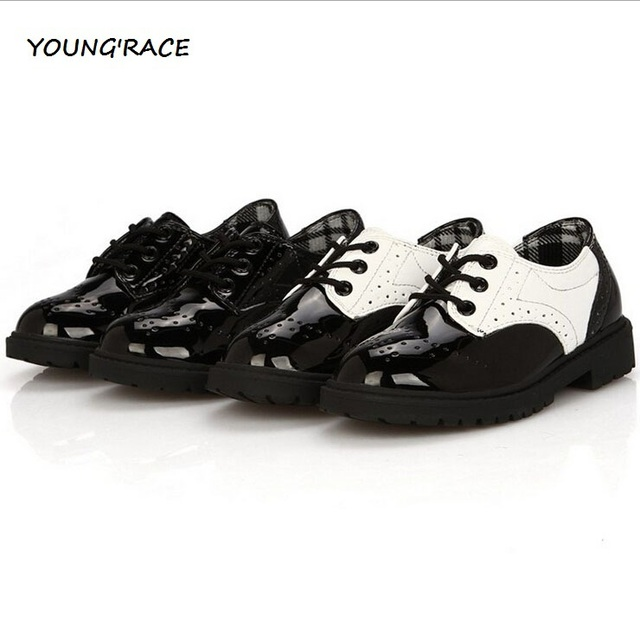 2016 Brand New Boys Formal Leather Shoes for Weddings England Style Kids Leather Dress Shoes Boys Brogue Wedding Shoes, S002