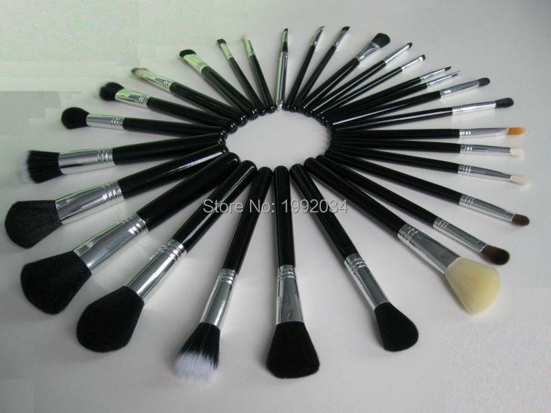 29pcs Black Silver Brush Set18