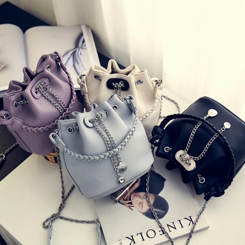 Women\'S Handbag PU Leather Bucket Bag Shoulder Bags Designer Hand Bags For Women Purses And Handbags