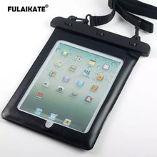 купить FULAIKATE 10.2 Universal Waterproof Bag for ipad 4 3 10 Meters Diving Pouch for ipad Air2 Tablet PC Swiming Protective Case дешево