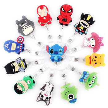 25 pcs New Colorful Animal Cartoon Retractable Pull Badge Reel ID Name Tag Card Nurse Badge Holder 2019 lovely Kids Reels